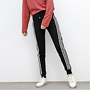 Mujer Simple Tiro Medio Microelástico Pantalones de Deporte Pantalones,Bloques Invierno Otoño