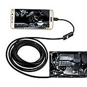 2in1 android&Pc 8.0mm lente hd endoscopio 2.0 mega píxeles 6 led ip67 impermeable inspección agujero 2m largo cable flexible