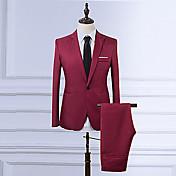 Men's Vintage Plus Size Slim Blazer - Sol...