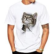 Men's Street chic Plus Size T-shirt - Ani...