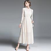 Mujer Sofisticado Chic de Calle Línea A Corte Swing Vestido - Encaje, Un Color Maxi
