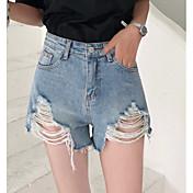 Mujer Básico Vaqueros / Shorts Pantalones - Un Color