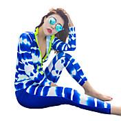 HISEA® Mujer Traje de buceo Resistente al Viento, SPF50, Protección solar UV Licra Cuerpo Entero Bañadores Ropa de playa Trajes de buceo Geométrico / Resistente a los rayos UV / Secado rápido