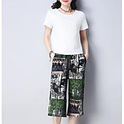 Mujer Camisa - Floral Pantalón