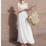 Mujer Básico Línea A Vestido Maxi