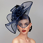 Feather / Net Fascinators / Headpiece wit...