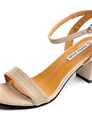 Feminino Sapatos Couro Ecológico Primavera Verão Conforto Plataforma Básica Sandálias Salto Grosso Dedo Aberto Presilha Para Social