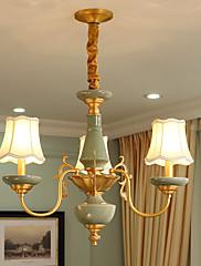 Alt kobber lysekrone jade dekorativlys værelse lysekrone op0