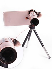 orsda® 20x ultra beast magnifier zoom manual foco telefoto telescópio telefone câmera lente kit com high-end tripé para iphone