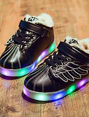 男の子 靴 レザーレット 秋 冬 コンフォートシューズ スニーカー 用途 カジュアル ホワイト ブラック ピンク