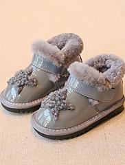 Para Meninas sapatos Courino Inverno Conforto Mocassins e Slip-Ons Para Casual Preto Cinzento Rosa claro