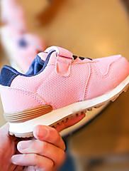 Para Meninas sapatos Couro Ecológico Verão Outono Conforto Tênis Corrida Para Casual Preto Verde Tropa Rosa claro