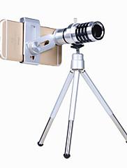 Kit de lente de câmera de telefone orsda® Zoom óptico 12x Visor de telescópio teleobjetivo universal para smartphone com faixa de tripé