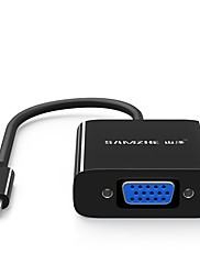 USB 3.1 Type C Kabel adaptéru, USB 3.1 Type C to VGA Kabel adaptéru Samec-samice 0,2 m (0.65Ft) 10 Gbs