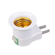 billige Lampesokler og kontakter-US Stik til E27 E27 110-240 V Plast Lyspære socket