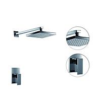 Moderní Pouze sprcha Dešťová sprcha Keramický ventil S dvěma otvory Single Handle dva otvory Pochromovaný , Sprchová baterie