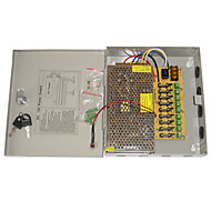 cheap -Power Supply 9-Channel 12V DC 10A Regulated for Security Systems 23.5*20.5*5cm 1.2kg
