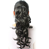 "High Quality Synthetic 16.94"" Curly Black Ponytail"