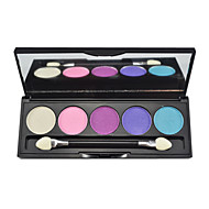 baratos Sombras-5 Paleta de Sombras Brilho Paleta da sombra Pó Normal Maquiagem para o Dia A Dia