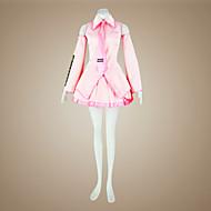 voordelige Gaming cosplay-geinspireerd door Vocaloid Sakura Miku Video Spel Cosplaykostuums Cosplay Kostuums Jurken Patchwork Mouwloos Hemd Rok Mouwen Kousen