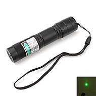billige -Bærbar grønn laserpeker med batteri og lader (5mw, 532nm, svart, 1x16340)