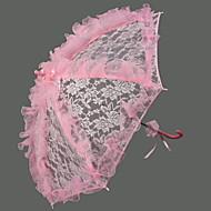 "Wedding Lace Umbrella Hook Handle 28.4""(Approx.72cm) Plastic 37.8""(Approx.96cm)"