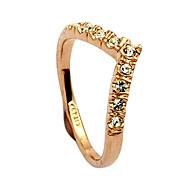 Dame Statement Ring Krystal Guld Sølv Legering Hjerte Daglig Kostume smykker