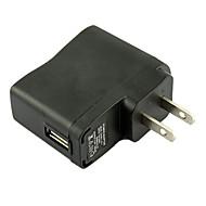 os sætte usb ac dc strømforsyning oplader adapter mp3 mp4 DV oplader (sort)