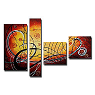 Χαμηλού Κόστους Artist - Tina Lin-Ζωγραφισμένα στο χέρι Αφηρημένο οποιοδήποτε σχήμα Καμβάς Hang-ζωγραφισμένα ελαιογραφία Αρχική Διακόσμηση Τετράπτυχα