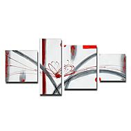 Χαμηλού Κόστους Artist - Lily Yang-Ζωγραφισμένα στο χέρι Αφηρημένο οποιοδήποτε σχήμα Καμβάς Hang-ζωγραφισμένα ελαιογραφία Αρχική Διακόσμηση Τετράπτυχα