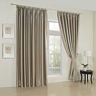 billige Gardiner ogdraperinger-To paneler Window Treatment Moderne , Ensfarget 65% Rayon/35%Polyester Rayon Materiale gardiner gardiner Hjem Dekor For Vindu