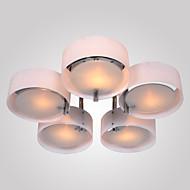 billige Taklamper-5-Light Takplafond Omgivelseslys Krom Metall Akryl Mini Stil 110-120V / 220-240V Pære ikke Inkludert / E26 / E27