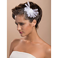 cheap Wedding Headpieces-One-tier Cut Edge Wedding Veil Blusher Veils Birdcage Veils 53 Tulle