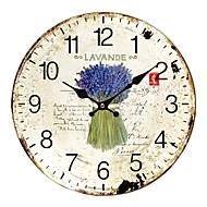 tanie Tamtejsze Zegary ścienne-Rustykalny Drewno Zaokrąglony w pomieszczeniach