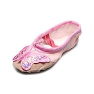 kézzel készített vászon balettcipő osztott talp balett papucs pillangó gyerekeknek