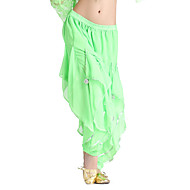 cheap Sale-Belly Dance Bottoms Women's Training Chiffon Ruffles Natural