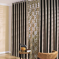 To paneler Window Treatment Moderne Soverom Polyester Materiale Blackout Gardiner Hjem Dekor For Vindu