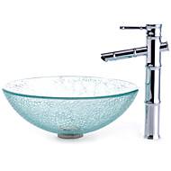 Χαμηλού Κόστους Περιλαμβάνεται Βρύση-Σύγχρονο Κυκλικό νεροχύτη Υλικό είναι Σκληρυμένο Γυαλί Νιπτήρας μπάνιου Βρύση μπάνιου Κρίκος πετσετών μπάνιου Σωλήνας Αποστράγγισης Νερού