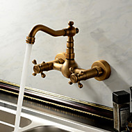 cheap Sprinkle® Faucets-Sprinkle® Kitchen Faucets - Antique Traditional Antique Brass Waterfall Two Holes
