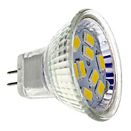 2W GU4(MR11) LED-spotpærer MR11 9 leds SMD 5730 Varm hvit 200lm 2700K DC 12V