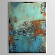 baratos -Pintura a Óleo Pintados à mão - Abstrato Clássico Tradicional 1 Painel