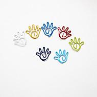 halpa -Palm tyyli värikäs paperiliittimiä (random väri, 10-pakkaus)