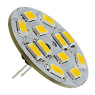 1.5w g4 led spotlight 12 smd 5730 130-150lm varm hvit 2700k dc 12v