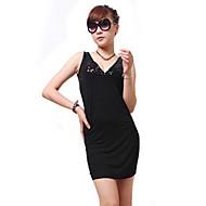 ZHI YUAN V Neck Vestido Backless Bodycon Pure Color (mais cores)