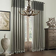 cheap Curtains Drapes-Curtains Drapes Bedroom Multi Color Polyester Printed