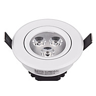 cheap Bathroom Lights-3W Modern LED Ceiling Light Integrated with White Paint Shade