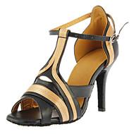 Özelleştirilmiş Kadın Saten Ve Deri Üst Dans Ayakkabıları