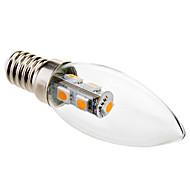 billige Stearinlyslamper med LED-1W 50-100 lm E14 LED-lysestakepærer C35 7 leds SMD 5050 Dekorativ Varm hvit AC 220-240V