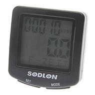"""1.5 """"LCD 유선 야광운 자전거 컴퓨터 / 속도계 - 블랙"""