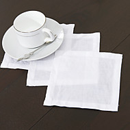 cheap Table Linens-Square Solid Napkin , Linen Material